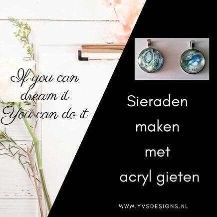sieraden maken met acryl gieten