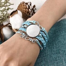 sieraden maken met acryl gieten-armband voor cabochon blauw