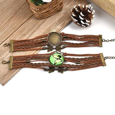 sieraden maken met acryl gieten-armband voor cabochon bruin