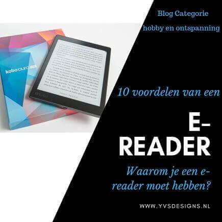 voordelen van een e-reader -ereader -ebook -boeken -lezen -ontspanning -ebooks-kobo-ereader kopen