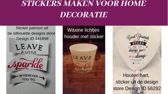 Stickers maken met silhouette curio home decoratie