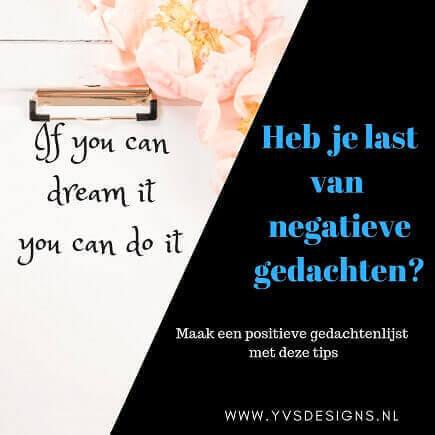 negatieve gedachten-positieve gedachten-positieve gedachten lijst- positief denken tips