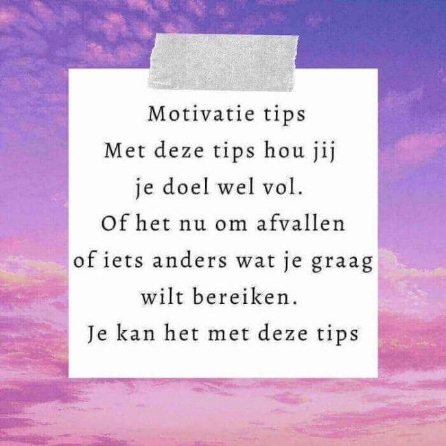 motivatie tips