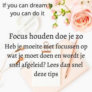 Hoe hou je focus